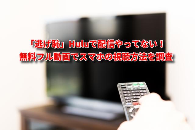 「逃げ恥」Huluで配信やってない!無料フル動画でスマホの視聴方法を調査