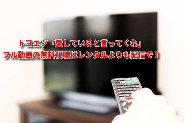 トヨエツ「愛していると言ってくれ」フル動画の無料視聴はレンタルよりも配信で!