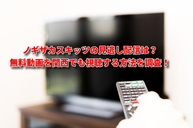 ノギザカ(乃木坂)スキッツの見逃し配信は?無料動画を関西でも視聴する方法を調査!